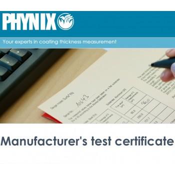 Certificato strumenti